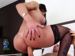 Busty Brazilian Shemale Melyna Merli Anal Rides On Hard Cock