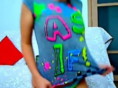Skinny College Teen Puffy Nipples On Webcam