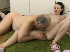 old-dude-stuffs-mouth-of-a-young-sweetheart-with-his-penis
