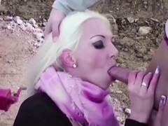 Hot German Big Tit Teen Seduce To Fuck Outdoor By Stranger