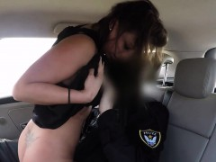 fake cop fucks sexy tanned brunette amateur babe