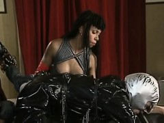 stud in latex banged african hottie roughly