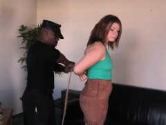 Strappado punished sub with natural tits