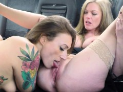 Female Fake Taxi Big Tits Barmaid Gets Lesbian Tribbing