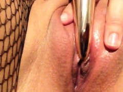 Gorgeous Close Up Solo Pussy Toying From Sexy Solo Stunner