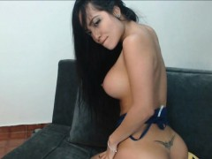 mean babe teasing striptease that butt