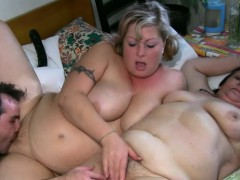 Threesome with BBW and a aged nanny