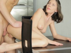 Cute Petite Brunette Teen Has Some Fun
