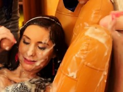 Smoking Sexy Chick Gets Mouth Fucked And Slimed At Gloryhole