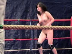 dyke-babes-wrestle-naked-in-a-boxing-ring