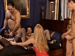 Naughty Chicks Pounded By Two Guys