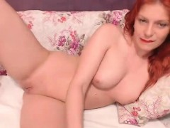 Redhead Mom Smoking And Fingering