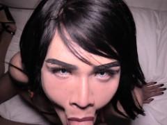 Cambodian Ladyboy Vina Bareback