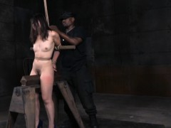 Dominated Cutie Tied In Cleavage Gag