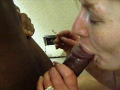 Older Mature Interracial Blowjob