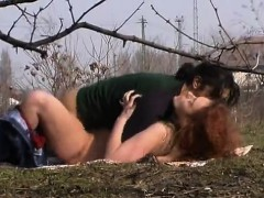 Outdoor Blowjob with Exhibitionist Couple Goes Hardcore