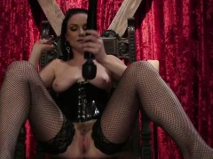 brunette mistress tortured tattoed slave