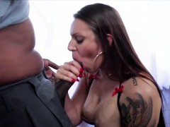fleshy babe tori pounds a huge black dick