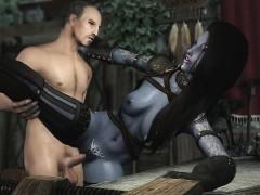 3d Dark Elf Milf Has An Affair With Human Knight Hentai