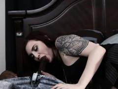 goth schoolgirl amber ivy wrecked by big black cock in her bedroom