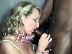 German Step-Mom Fuck Black Boy on Privat Party