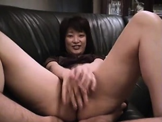 Asian Fingering Her Hairy Pussy