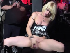 Tiny Blonde Teen PUBLIC Squirting