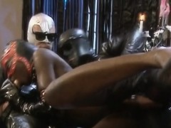 latex guys smashing an extremely juicy ebony woman