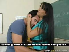 busty-brunette-teacher-at-school-going-through-an-earthquake