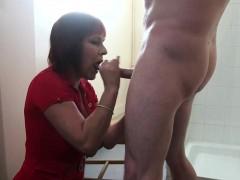 Mature Cfnm Redhead Sucking Cock And Balls