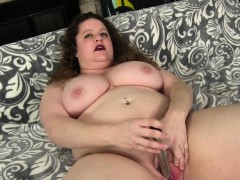 plumper uses sex toys on her juicy twat WWW.ONSEXO.COM