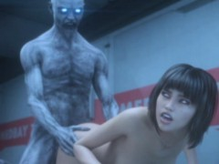 3d Zombie Fucks Helpless Sexy Scientist!
