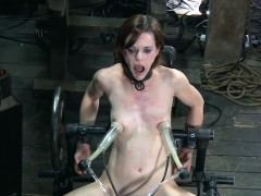 tormented slave gets drilled from behind