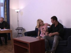 Husband Friend Doggy-fucks His Blonde Wife For Money