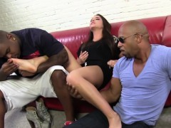 giselle leon gives footjob to three bbcs WWW.ONSEXO.COM