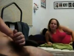 She Could Help Herself As She Watches Him Jerk