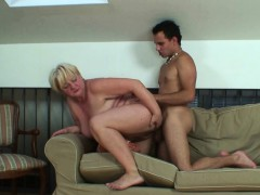 he helps blonde old grandma WWW.ONSEXO.COM