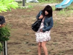 Asians Urinate Outside