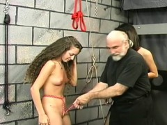 Undressed Woman Stands And Endures Rough Slavery Amateur