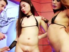 Charming Shemale Yuki In Hot Threesome