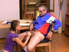horny mature teacher bonks naughty honey senseless
