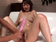 busty arisa araki gets a full dick in her tiny pussy – more
