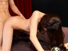 shy oriental beauteous chick gets snatch smashed WWW.ONSEXO.COM