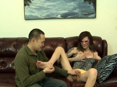 Tgirl Cums In Guys Mouth