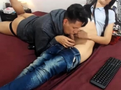 Boyfriend Gives Tranny Agatha Awesome Blowjob