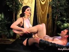 Domme Cherry Torn Pegs Submissive Guy