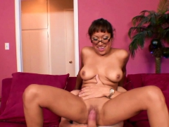 Busty babe Jasmine Lopez takes a cock in her Latina twat