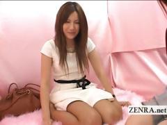 strange japan cfnm instructional lesson with handjob