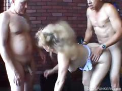sexy-old-spunker-gets-spit-roasted