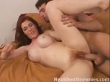 Redhead mom sucking and fucking
